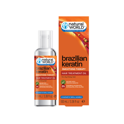 BRAZILIAN KERATIN Olejek do włosów z keratyną /100ml NATURAL WORLD